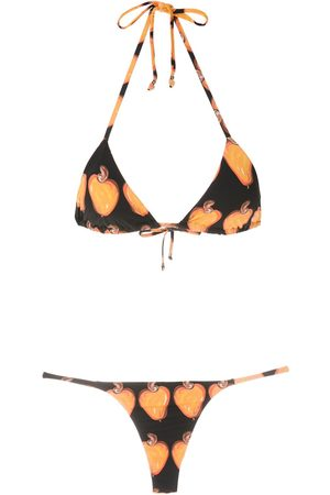 AMIR SLAMA Pear-print bikini set