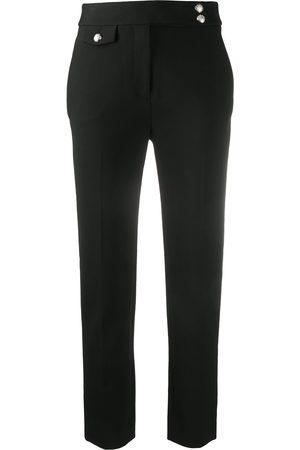 VERONICA BEARD High-rise slim-fit trousers