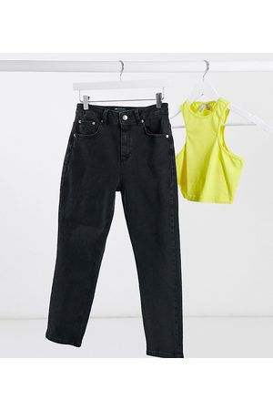 ASOS ASOS DESIGN Petite hourglass high rise farleigh 'slim' mom jeans in washed