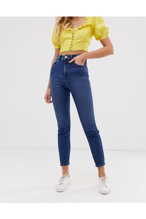 ASOS Recycled high rise farleigh 'slim' mom jeans in dark wash