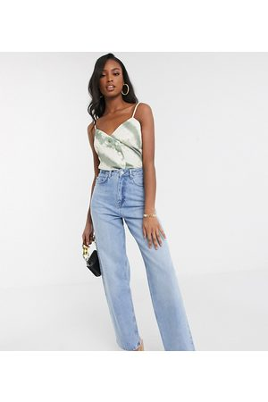 ASOS ASOS DESIGN Tall high rise 'relaxed' dad jeans in midwash