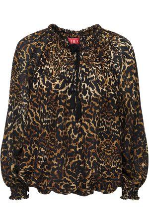 F.R.S For Restless Sleepers Hemd Aus Seidenkrepp Mit Leopardenfelldruck