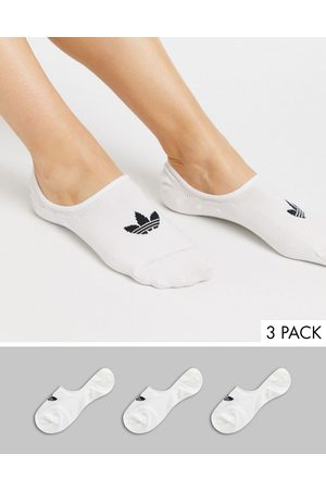 adidas 3 pack no show socks in