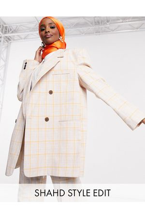 ASOS Dad suit blazer in orange check