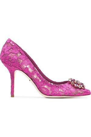 Dolce & Gabbana Damen Schnürschuhe - Belucci Taormina lace 90mm pumps
