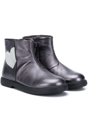 Camper Kids Heart-patch ankle boots