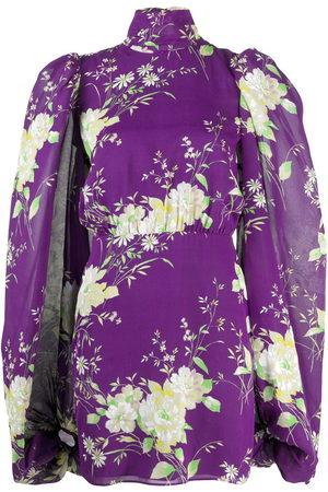 The Attico Damen Freizeitkleider - Gobi floral-print mini dress