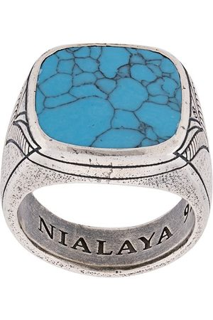 Nialaya Engraved onyx ring