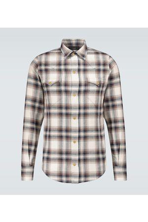 Alanui Kariertes Hemd aus Baumwollflanell