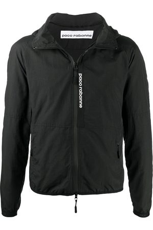 Paco rabanne Logo panel hooded jacket