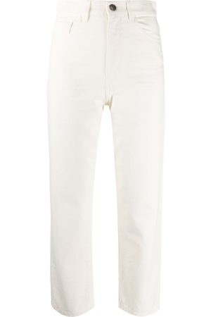 Twin-Set Cropped high-rise jeans
