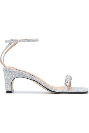 Sergio Rossi Crystal glitter sandals