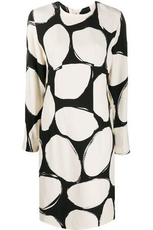 Marni Circles print shift dress