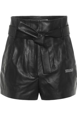OFF-WHITE High-Rise Shorts aus Leder