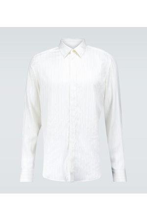 Lanvin Nadelstreifenhemd aus Seide