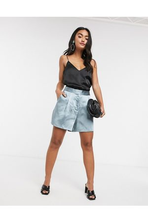 ASOS Satin suit shorts in powder