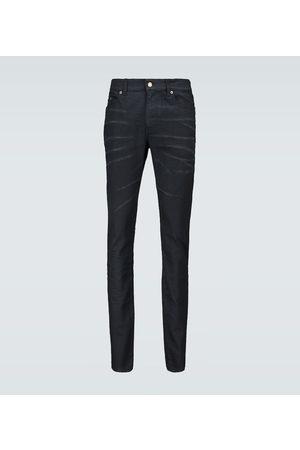Saint Laurent Beschichtete Skinny Jeans