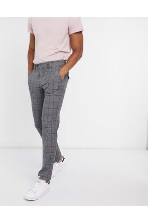 Selected Slim fit trouser in dark check