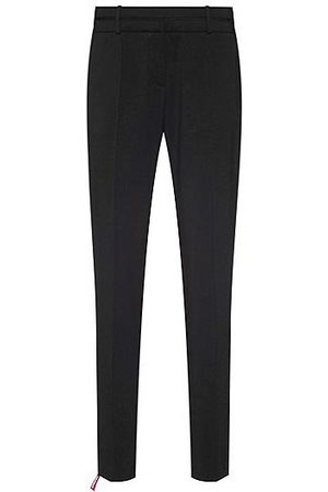 HUGO BOSS Slim-Fit Hose aus knitterfreier Stretch-Schurwolle