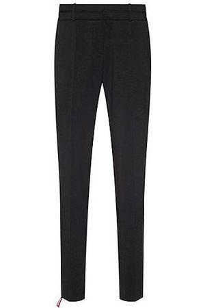 HUGO BOSS Slim-Fit Hose aus knitterfreier Stretch-Schurwolle