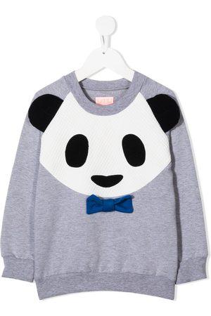 Wauw Capow by Bangbang Panda Power rib-trimmed sweatshirt