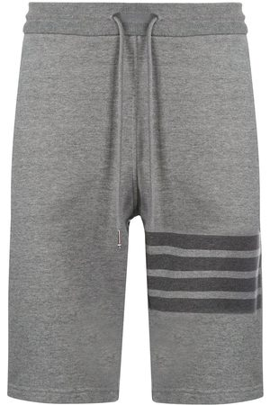 Thom Browne Cotton striped track shorts
