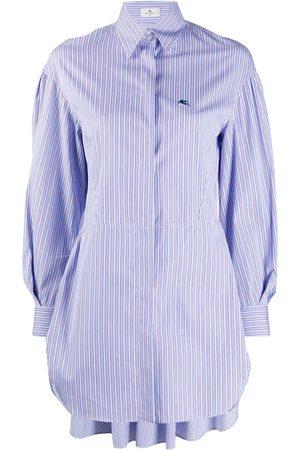 Etro Long-line striped shirt