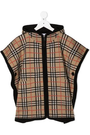 Burberry Vintage check hooded cape