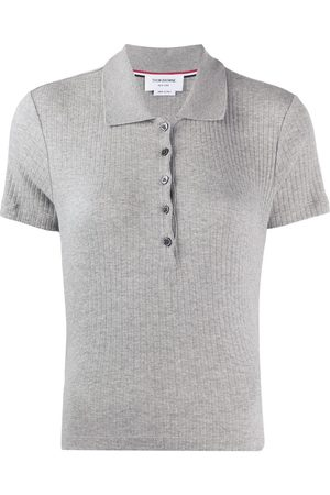 Thom Browne Short Sleeve Polo In High Twisted Rib