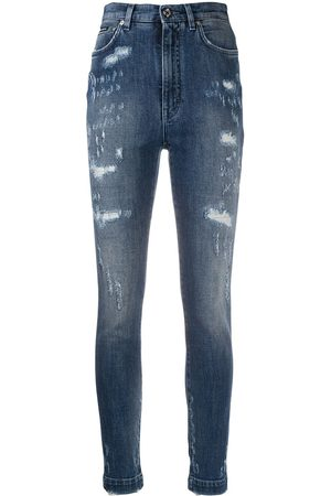 Dolce & Gabbana Damen High Waisted - Audrey ripped high-waisted jeans