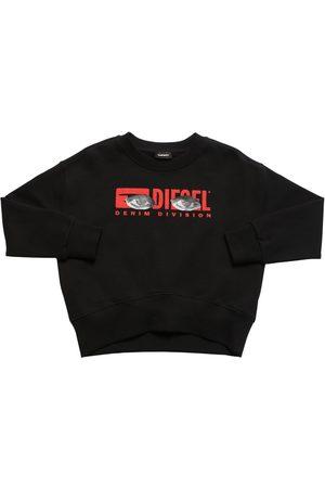 Diesel Sweatshirt Aus Baumwolle Mit Logodruck