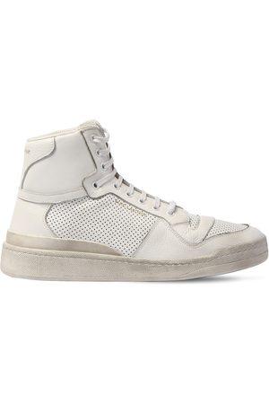 Saint Laurent Hohe, Perforierte Ledersneakers