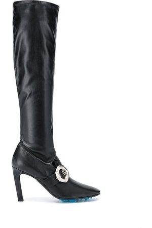 OFF-WHITE Damen Hohe Stiefel - Buckle-detail over-the-knee boots