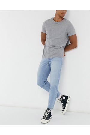 ASOS Herren Slim - Classic rigid jeans in light wash with raw hem