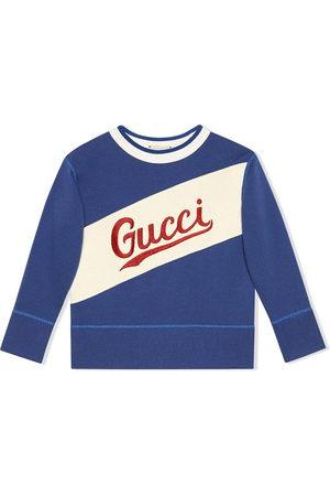 Gucci Logo-embroidered long-sleeved sweatshirt