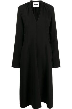 Jil Sander V-neck midi dress