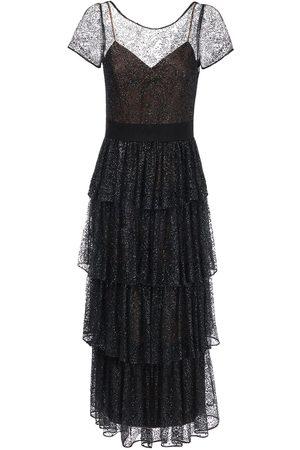 Marchesa Notte Damen Lange Kleider - Langes Kleid Aus Tüll