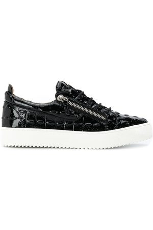 Giuseppe Zanotti Patent leather side-zip trainers