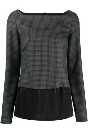 Maison Margiela Layered check blouse