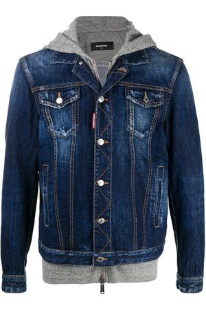 Dsquared2 ICON jersey hood denim jacket