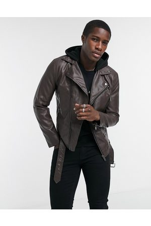 River Island PU biker in