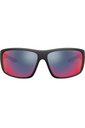 Prada Linea Rossa wraparound-frame sunglasses