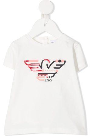 Emporio Armani Kids Logo-print crew neck T-Shirt