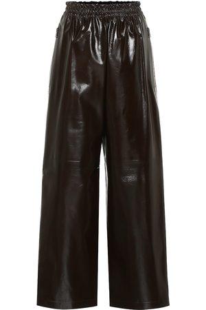 Bottega Veneta Hose mit weitem Bein aus Leder