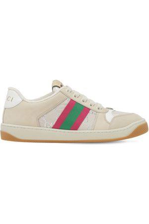 "Gucci 10mm Sneakers Aus Leder Und Jacquard ""screener"""