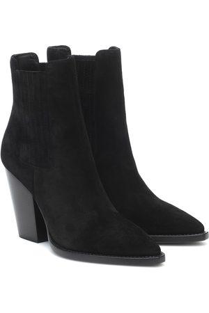 Saint Laurent Ankle Boots Theo 96 aus Veloursleder
