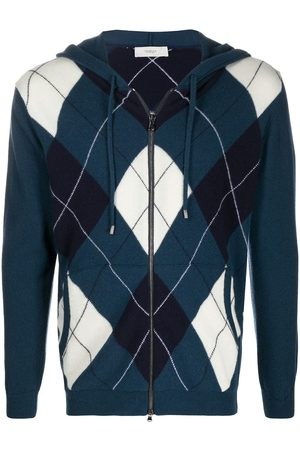 PRINGLE OF SCOTLAND Argyle-intarsia zip-through sweater