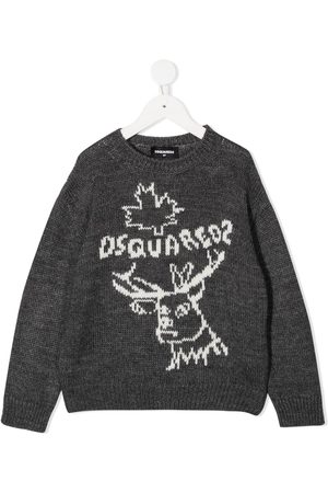 Dsquared2 Reindeer crew neck jumper