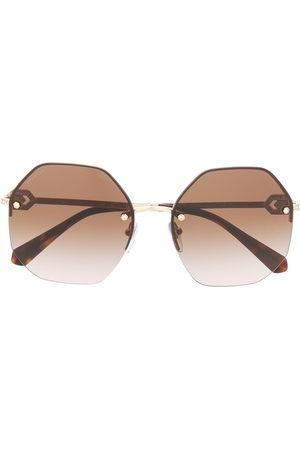 Bvlgari Geometric tinted sunglasses