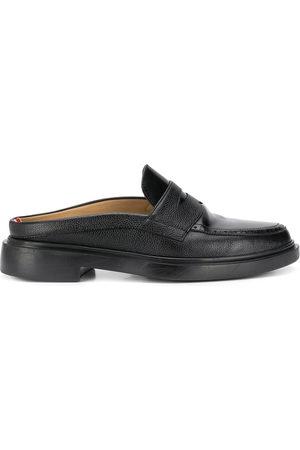 Thom Browne Herren Halbschuhe - Pebbled leather penny loafer mules